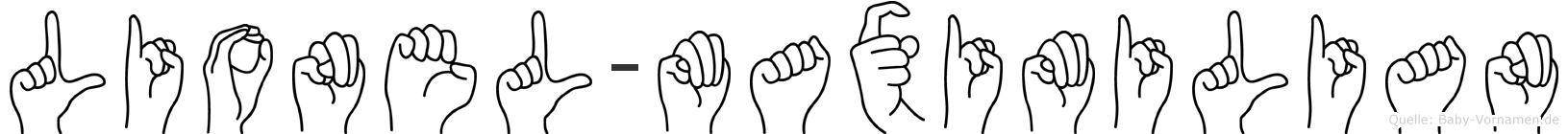 Lionel-Maximilian im Fingeralphabet der Deutschen Gebärdensprache