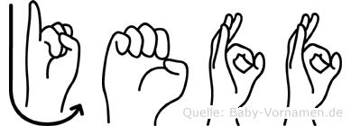 Jeff in Fingersprache für Gehörlose