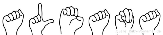 Aleana im Fingeralphabet der Deutschen Gebärdensprache