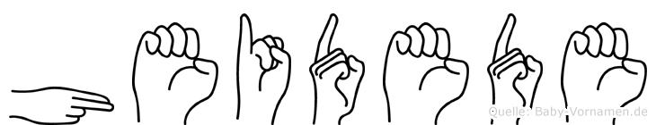 Heidede im Fingeralphabet der Deutschen Gebärdensprache