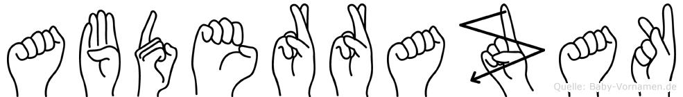 Abderrazak in Fingersprache für Gehörlose