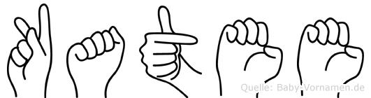 Katee im Fingeralphabet der Deutschen Gebärdensprache