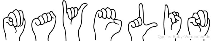 Mayelin in Fingersprache für Gehörlose
