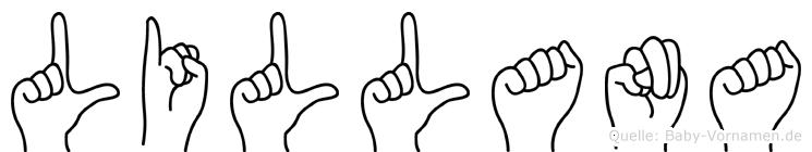 Lillana im Fingeralphabet der Deutschen Gebärdensprache