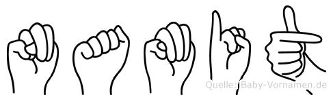 Namit im Fingeralphabet der Deutschen Gebärdensprache
