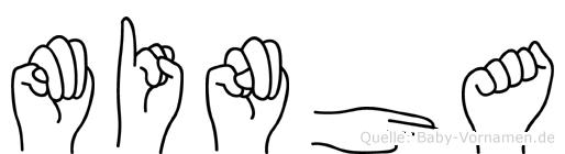 Minha im Fingeralphabet der Deutschen Gebärdensprache