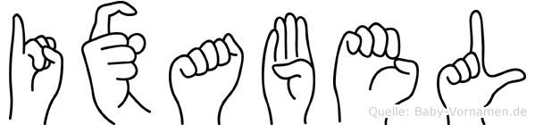 Ixabel in Fingersprache für Gehörlose
