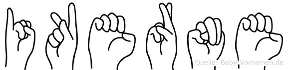 Ikerne in Fingersprache für Gehörlose