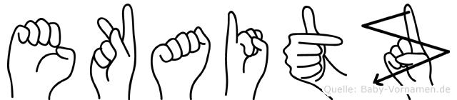 Ekaitz in Fingersprache für Gehörlose