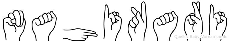 Nahikari im Fingeralphabet der Deutschen Gebärdensprache