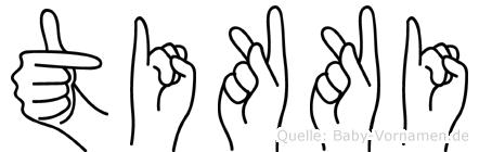 Tikki in Fingersprache für Gehörlose