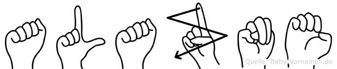 Alazne in Fingersprache für Gehörlose