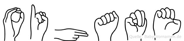 Oihane im Fingeralphabet der Deutschen Gebärdensprache
