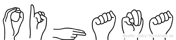 Oihana im Fingeralphabet der Deutschen Gebärdensprache