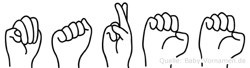 Maree im Fingeralphabet der Deutschen Gebärdensprache