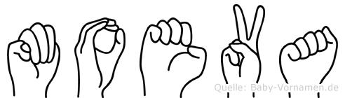 Moeva in Fingersprache für Gehörlose