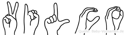 Vilco in Fingersprache für Gehörlose