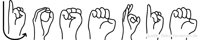 Josefie im Fingeralphabet der Deutschen Gebärdensprache