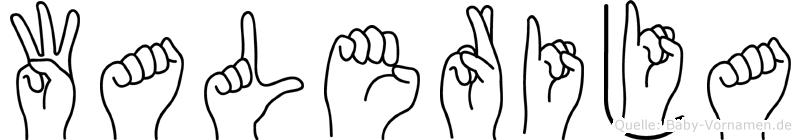 Walerija in Fingersprache für Gehörlose