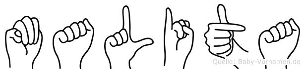 Malita in Fingersprache für Gehörlose