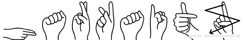 Harkaitz im Fingeralphabet der Deutschen Gebärdensprache