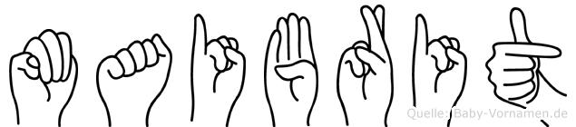 Maibrit im Fingeralphabet der Deutschen Gebärdensprache