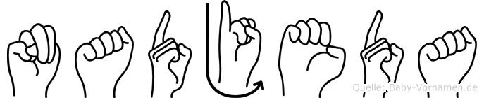 Nadjeda im Fingeralphabet der Deutschen Gebärdensprache