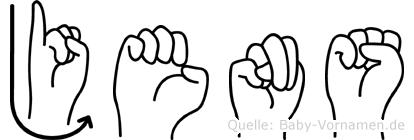 Jens in Fingersprache für Gehörlose