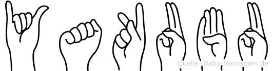 Yakubu im Fingeralphabet der Deutschen Gebärdensprache