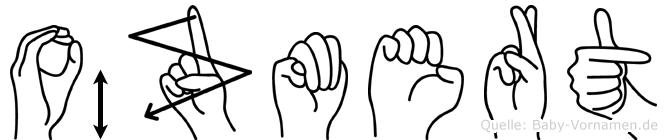 Özmert im Fingeralphabet der Deutschen Gebärdensprache