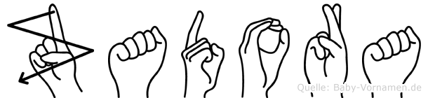 Zadora im Fingeralphabet der Deutschen Gebärdensprache
