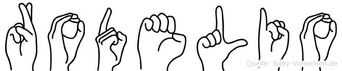 Rodelio im Fingeralphabet der Deutschen Gebärdensprache