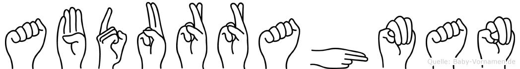 Abdurrahman in Fingersprache für Gehörlose