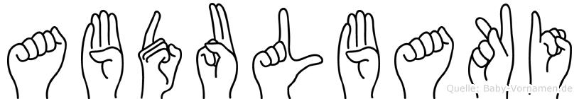 Abdulbaki in Fingersprache für Gehörlose