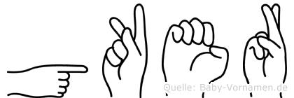 Göker in Fingersprache für Gehörlose