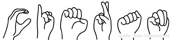 Cieran im Fingeralphabet der Deutschen Gebärdensprache