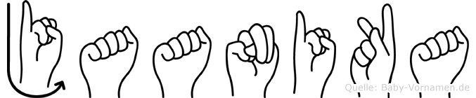 Jaanika im Fingeralphabet der Deutschen Gebärdensprache