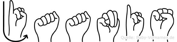 Jaanis in Fingersprache für Gehörlose
