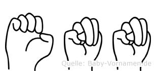 Enn in Fingersprache für Gehörlose