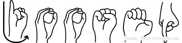 Joosep im Fingeralphabet der Deutschen Gebärdensprache