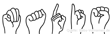 Madis im Fingeralphabet der Deutschen Gebärdensprache