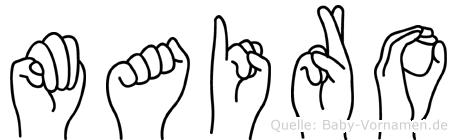 Mairo im Fingeralphabet der Deutschen Gebärdensprache