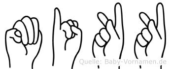 Mikk in Fingersprache für Gehörlose