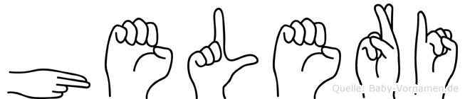 Heleri in Fingersprache für Gehörlose