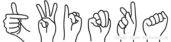 Twinka im Fingeralphabet der Deutschen Gebärdensprache