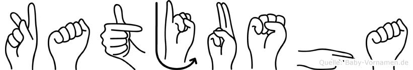 Katjusha im Fingeralphabet der Deutschen Gebärdensprache