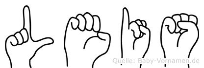 Leis im Fingeralphabet der Deutschen Gebärdensprache