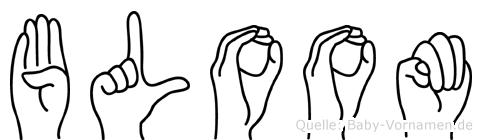 Bloom im Fingeralphabet der Deutschen Gebärdensprache