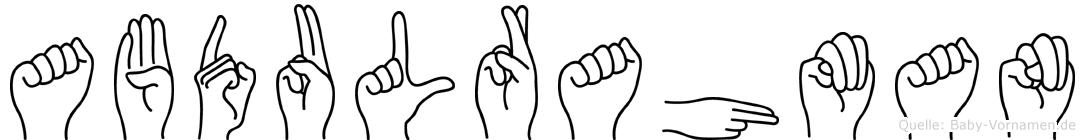Abdulrahman in Fingersprache für Gehörlose