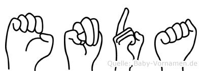Enda in Fingersprache für Gehörlose